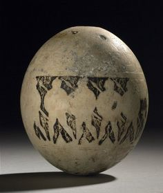 Decorated Ostrich Egg  7th Century BC  Found in the Isis Tomb  Pinned from PinTo for iPad 