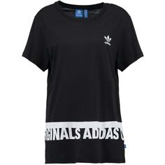 adidas Originals T-shirt med tryck black ❤ liked on Polyvore featuring tops, t-shirts, adidas originals t shirt, adidas originals and adidas originals tee
