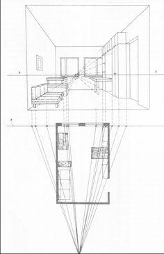 Аксонометрия и перспектива комнаты