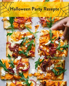 Halloween Party Rezepte. Ungeheuerlich gut! Marley Spoon, Helloween Party, Bruschetta, Vegetable Pizza, Vegetables, Ethnic Recipes, Food, Party Humor, Fall Vegetables