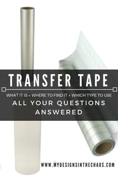Transfer Tape helps you to move vinyl from one place to another and stay in the exact design. Join us as we talk about the different types of transfer tape. How To Use Cricut, Cricut Help, Transfer Tape For Vinyl, Transfer Paper, Stencil Vinyl, Cricut Vinyl, Cricut Air, Cricut Tutorials, Cricut Ideas
