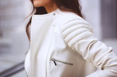 love light colored leather jackets for spring