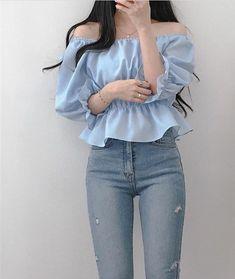 Korean style shared by gigi on We Heart It Korean Fashion Dress, Kpop Fashion Outfits, Korean Street Fashion, Korean Outfits, Cute Fashion, Asian Fashion, Look Fashion, Fashion Dresses, Ulzzang Fashion Summer