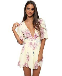 dd26a4acc0 Apparel Sexy deep v neck floral print romper women jumpsuit Summer 2016  ruffles casual short overalls Boho bow playsuit. Chicnova Fashion · Tanks T- shirts