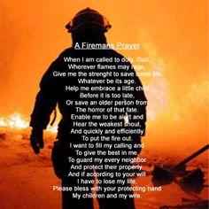 Fire fighter prayer
