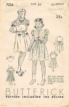1930s Butterick 7234 Vintage Sewing Pattern by midvalecottage