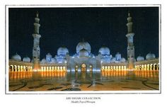 My postcard collection: Sheikh Zayed Grand Mosque - UAE