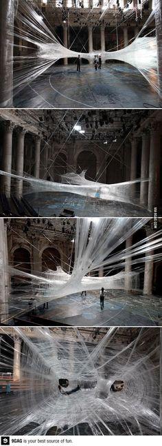 Packing Tape Spiderweb