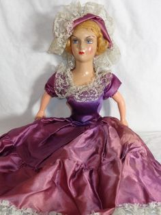 1930s Composition and Cloth French Boudoir Doll | eBay
