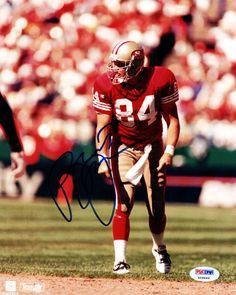 Brent Jones Autographed 8x10 Photo San Francisco 49ers PSA/DNA