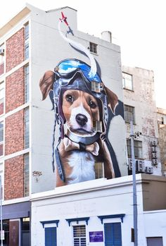 A new mural has been completed by Belgian street artist Bart Smeets on Cape Town's Harrington Street, effectively acting as a billboard for a public art festival. Murals Street Art, 3d Street Art, Amazing Street Art, Art Mural, Street Art Graffiti, Street Artists, Graffiti Artists, Abstract Sculpture, Sculpture Art