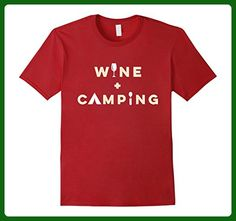 Mens Funny Wine and Camping T-Shirt - Camp Hike Winosaur Alcohol Small Cranberry - Food and drink shirts (*Amazon Partner-Link)