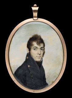 Commodore Oliver Hazard Perry - about 1807 - Joseph Wood (American, Miniature Portraits, Miniature Paintings, Barbary Wars, New Museum, Historical Art, Retro Art, Vintage Photographs, Portrait Art, Antigua