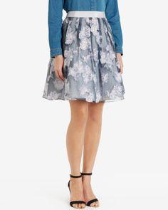 Full floral skirt - Light Grey | Skirts | Ted Baker UK