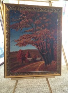 Beautiful Fall Color scene Original Oil on Canvas  by USANOW