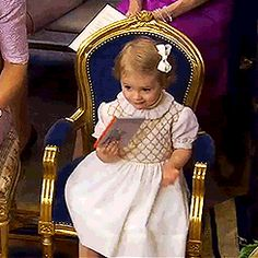 Princess Estelle at the christening of her cousin, Princess Leonore - June 2014