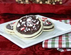 Peppermint Chocolate Sandwich Cookies - cookie dough recipe curated by SavingStar Grocery Coupons. Save money on your groceries at SavingStar.com
