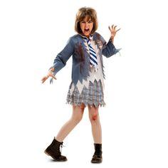 Disfraz de Colegiala Zombie Infantil #halloween #disfraces