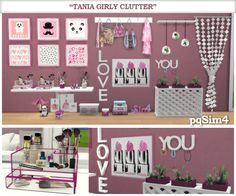 """""""Tania"""" Girly Clutter. Sims 4 Custom Content. ~ pqSim4"""