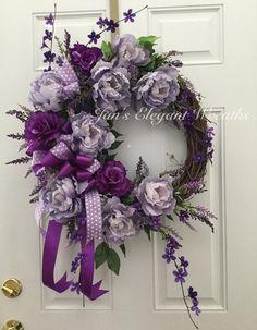 Mother's Day Gift  Spring Wreath.  Summer by JansElegantWreaths