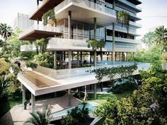 Image 6 of 6 from gallery of Edifício Itaim Proposal / FGMF Arquitetos. Courtesy of FGMF Arquitetos Green Architecture, Futuristic Architecture, Residential Architecture, Architecture Design, Facade Design, Exterior Design, Residential Complex, Building Facade, Cool Apartments