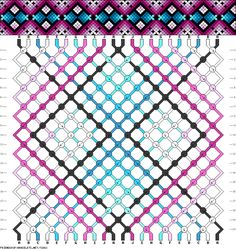 DIY Free Friendship Bracelet Pattern & Knot Instructions - argyle style diamonds