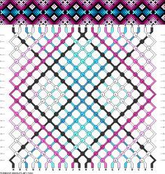 DIY Free Friendship Bracelet Pattern & Knot Instructions - argyle style diamonds