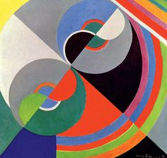 "Sonia Delaunay, 'Rhythm Colour no. 1939 ""The EY Exhibition: Sonia Delaunay"" at Tate Modern, London Sonia Delaunay, Robert Delaunay, Nadir Afonso, Art Quotidien, Art Moderne, Art Plastique, Oeuvre D'art, Art Blog, Geometric Shapes"