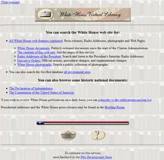 Look at how The White House website looked in 1997 and travel with us through the history of web design. Design Museum, Timeline, Web Design, Website, Retro, House, Design Web, Home, Haus