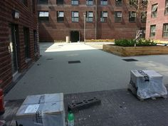Over 1000 square metres of RonaDeck Resin Bound Surfacing being laid in Exeter. #SuDS
