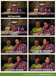 Seriously love psych! You know what I'm talking about momma!  @Maria Canavello Mrasek Gonzalez