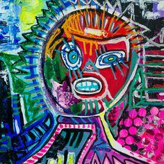 """""""Atem"""" [Manila Section] Künstlerin:  Nathalie van den Bergh (NEONBEIGE)  Höhe: 50 cm, Breite: 50 cm, Tiefe: 5 cm (mit Rahmen) Material: Gouache, Acryl, Pastellkreide, Ölkreide auf Papier* Herstellungsjahr: 2015 #nathalievandenbergh #malerei #crelala"""