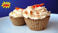 Carrot Cake Protein Cupcakes (Gluten and Dairy Free). No added sugar too, definitely need to try these!
