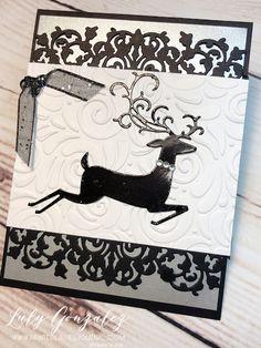 Painted Ladies Journal: Dashing Deer Homemade Christmas Cards, Christmas Deer, Painted Ladies, Xmas Cards, Stampin Up Cards, Mini Albums, Reindeer, Digital Scrapbooking, Delicate