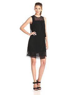 Ivy & Blu Women's Sleeveless Solid Draped Shift with Mesh Detail Dress, Black, 14 Ivy & Blu http://www.amazon.com/dp/B00NPLA7CW/ref=cm_sw_r_pi_dp_e3RTvb0DYEP6B