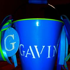 Front of Gavins Easter Bucket!