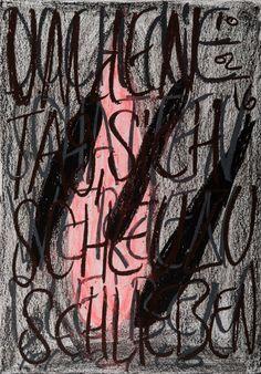 YOSEF JOSEPH DADOUNE   A pink gland and three brown gland 10/02/16  Pastels on Nostalgique Hahnemühle paper  59,4 x 84,1cm (A1) - 190g/m²  Photographer: Yigal Pardo
