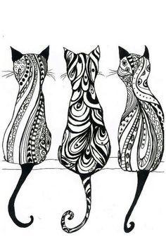 Cats Tribal art