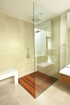A Spa-Like Bathroom Retreat | House Counselor would love to do this to the master bath shower.