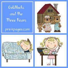 Goldilocks and the Three Bears Preschool and kindergarten Activities from PreK Pages!  Love it!