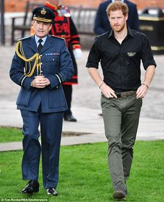 Launch: Prince Harry arrives to meet some of the athletes who will compete in the Games...