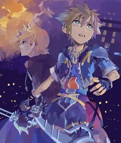 Sora & Roxas fighting side by side