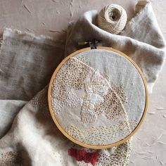 Stitch Journal, Day 84 | by bluepeninsula Creative Embroidery, Modern Embroidery, Hand Embroidery Patterns, Abstract Embroidery, Floral Embroidery, Cross Stitch Embroidery, Textiles Sketchbook, Fabric Art, Textile Art