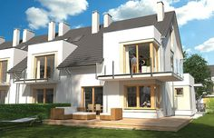 Projekt domu Diana Grande A segment lewy lub prawy Row House Design, Modern House Design, Modern Houses, Diana, Townhouse, The Row, New Homes, Mansions, House Styles