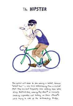 Hilarious Illustrations Show Different Kinds of NYC Bikers - My Modern Metropolis