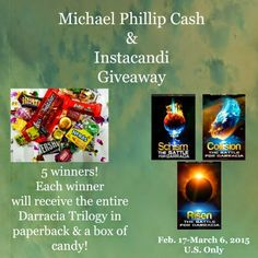 2c333cd8b1e Cassandra M s Place  Darracia Trilogy on paperback along with a box of  candy from Instacandi