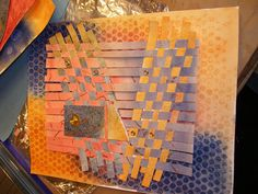 Woven 4 AU - Jacquline Sullivan's blog shows lots of paper weaving and mixed media inspiration pieces.