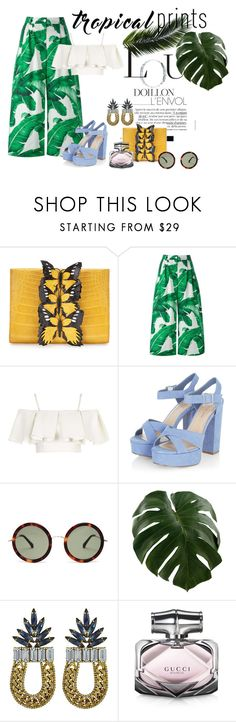 """Hot Tropics"" by katiesdelight ❤ liked on Polyvore featuring Nancy Gonzalez, Dolce&Gabbana, Topshop, The Row, DANNIJO, Gucci, tropicalprints and hottropics"