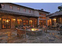 Patio time in Carmel CA Carmel California, California Real Estate, Monterey California, Spanish Style Homes, Spanish Colonial, Outdoor Living, Outdoor Decor, Black Friday, Building A House