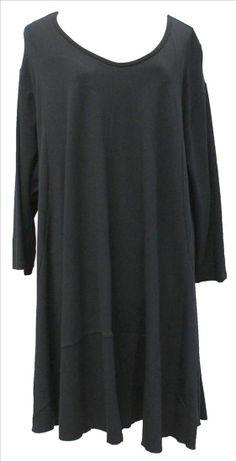 AKH Fashion Lagenlook Tunika Kleid Sommerfarben in schwarz XXL Mode bei www.modeolymp.lafeo.de